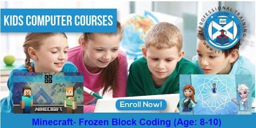 Minecraft- Frozen Block Coding (Age: 8-10) @Edinburgh