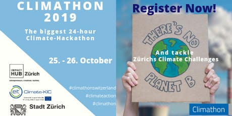 Climathon - hosted by ImpactHub Zurich and the City of Zurich tickets