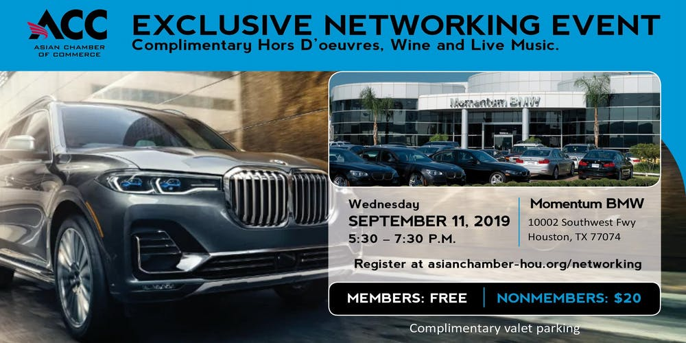 Asian Chamber Networking Night at Momentum BMW Tickets, Wed