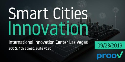 Smart Cities Innovation:  Lunch & Learn with prooV CEO Toby Olshanetsky