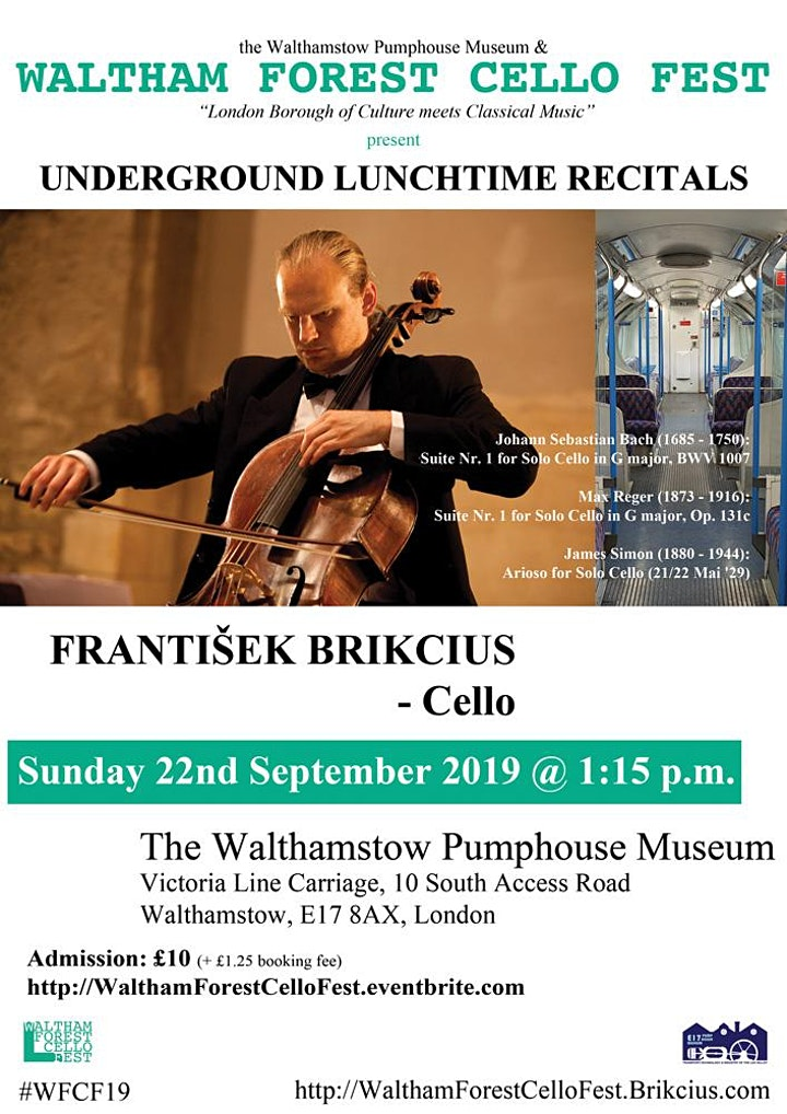 Waltham Forest Cello Fest 2019 - the 6th Underground Lunchtime Recital image