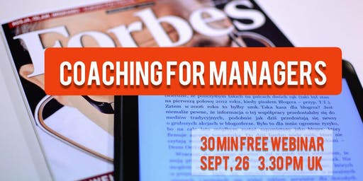 Coaching for Managers Вебинар