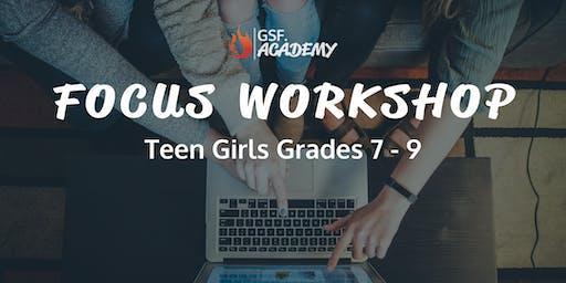 FOCUS Workshop | Brisbane (for Teen Girls, Grades 7-9)