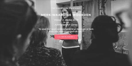 VIP MERK-Waardige Woorden 11 oktober 2019 tickets