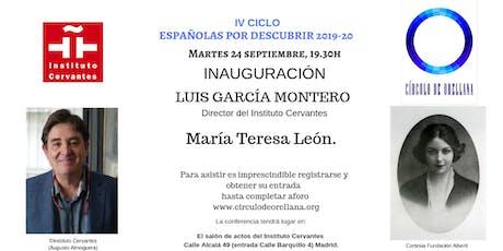 MARÍA TERESA LEÓN por Luis García Montero. entradas