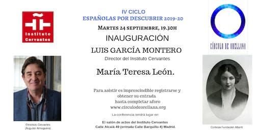 MARÍA TERESA LEÓN por Luis García Montero.
