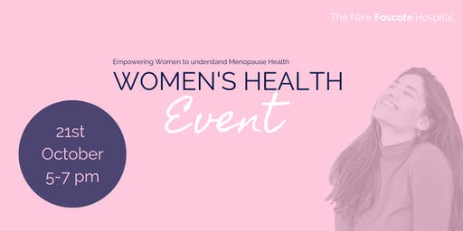 Women's Health Event - Empowering Women to understand Menopause Health