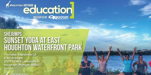 MI SheJumps Sunset Yoga at East Houghton Waterfront Park