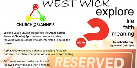 Alpha - exploring Christianity tickets