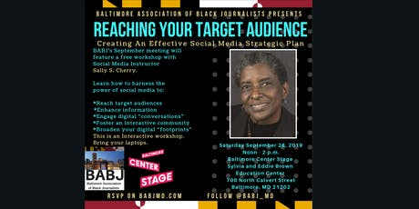 BABJ presents 'Reaching Your Target Audience' with Sally S. Cherry tickets