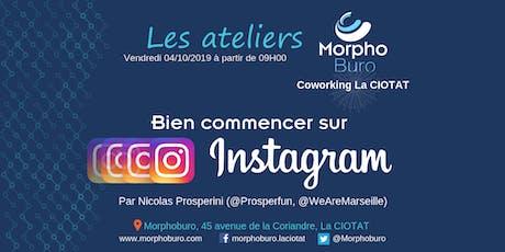 Atelier Morpho - Bien commencer sur Instagram (débutants) billets
