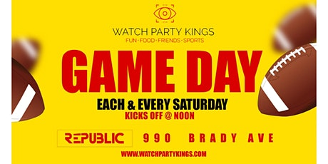 College Football Game Day @ Republic - Watch Party Experience  tickets