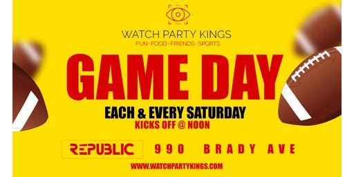 College Football Game Day @ Republic - Watch Party Experience