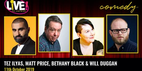 Stand-up Comedy Live! -  Friday 11th October 2019 tickets