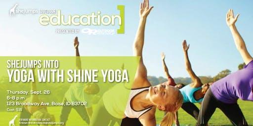 ID SheJumps into Yoga with Shine Yoga