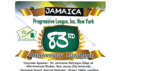 Jamaica Progressive League 83rd Anniversary Luncheon tickets