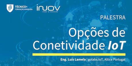 Opções de Conetividade IoT bilhetes
