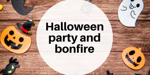 Halloween party and bonfire