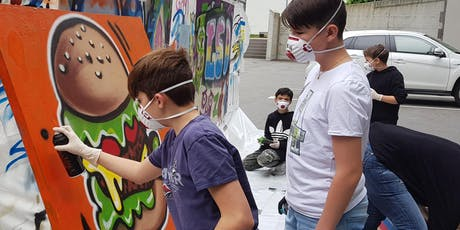 25. Sept. Mittwoch:  Graffiti Sprayen Tickets