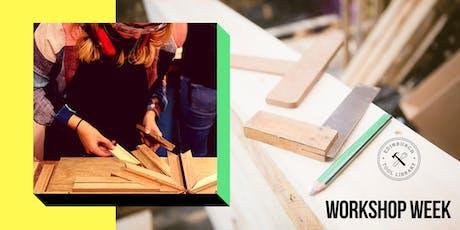 Geometric Wooden Wall Art Workshop tickets