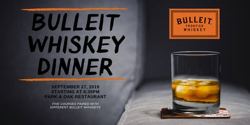 Bulleit Whiskey Dinner