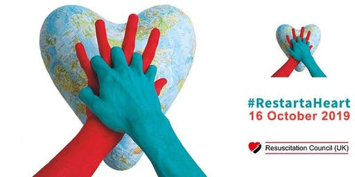 Free CPR & Defibrillator training drop in for Restart a Heart day 2019.