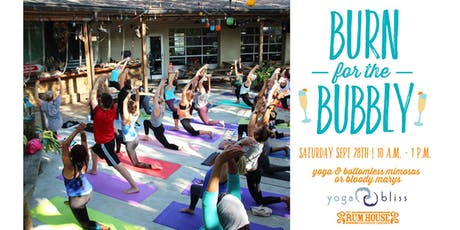 Burn for the Bubbly at The Rum House with Yoga Bliss tickets