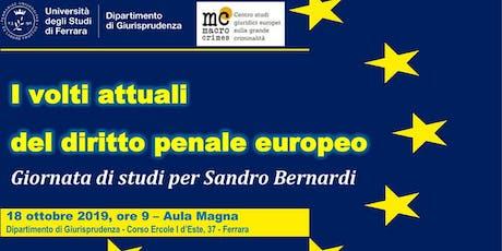 I volti attuali del diritto penale europeo biglietti