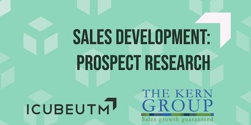Sales Development: Prospect Research