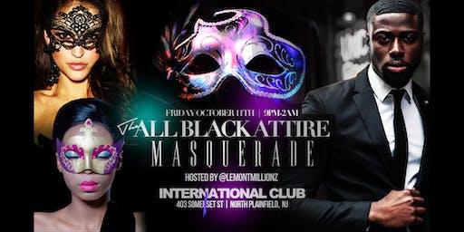 The All Black Attire Masquerade
