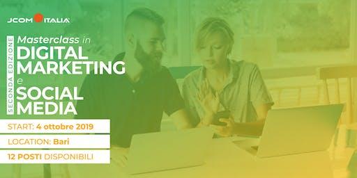 Masterclass in Digital Marketing e Social Media (2^ edizione)