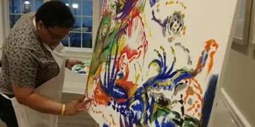 Live Intuitive Painting by LeLe
