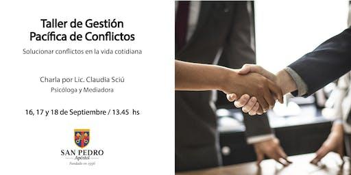 Taller de Gestión Pacífica de Conflictos - Septiembre