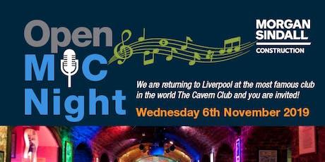 Morgan Sindall Open Mic Night - Liverpool 2019 tickets