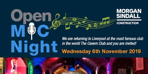 Morgan Sindall Open Mic Night - Liverpool 2019