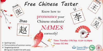 Chinese Taster Class