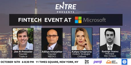 Fintech Event at Microsoft - NYC tickets