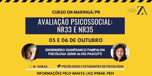 CURSO DE AVALIAÇÃO PSICOSSOCIAL: NR33 E NR35