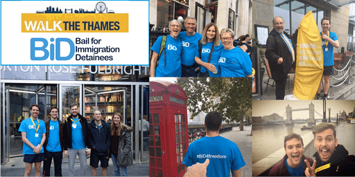 Walk the Thames charity challenge - Bail for Immigration Detainees