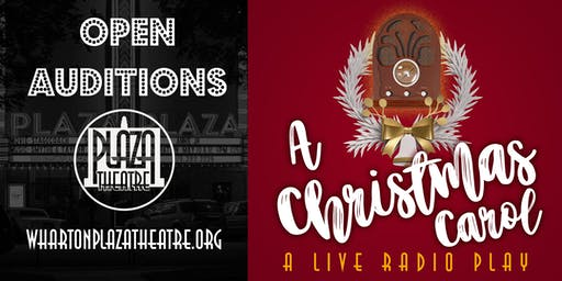 Open Auditions for A Christmas Carol: A Live Radio Play