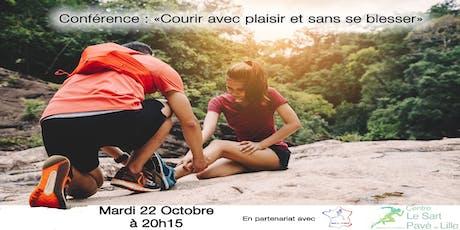 Conférence : Courir avec plaisir et sans se blesser ! #10 tickets