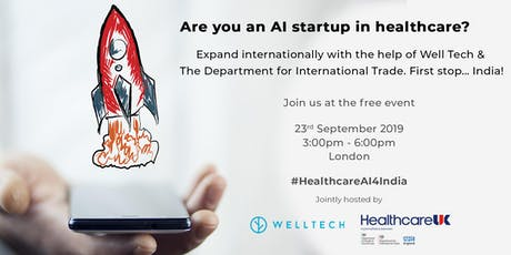 Are you an AI startup looking to expand into the Indian healthcare market? tickets