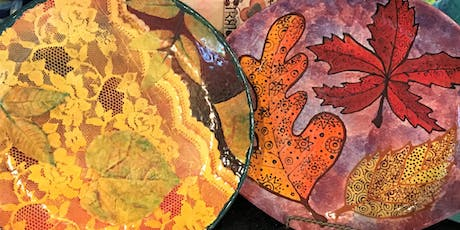 Inspired Leaves Painting Class tickets
