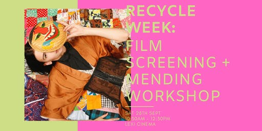 "RECYCLE WEEK: Traid presents Alex Noble ""Who Are the Savs"" + Mending Workshop"