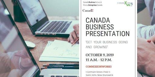 Canada Business Presentation @ ConnexionWorks
