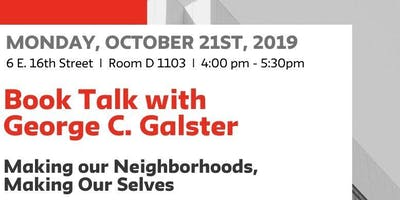 Book Talk with  George C. Galster
