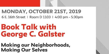 Book Talk with  George C. Galster tickets