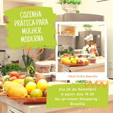 Curso: Cozinha prática para a mulher moderna. ingressos