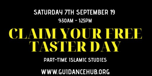 ISNAD Part-time Islamic Studies - Free Taster Session (Sat 7th Sep 19   9:30am)