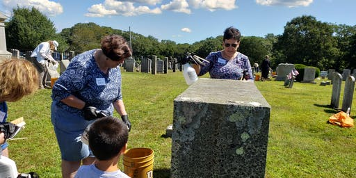 Cleaning and Preserving Gravestones Hands-on Workshop